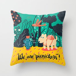 We are picnickers Throw Pillow