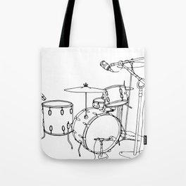 Drum Recording Tote Bag