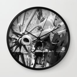 The cannon (black & white version) Wall Clock