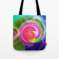"""agate Tote Bags featuring """" Agate """"  by shiva camille"""
