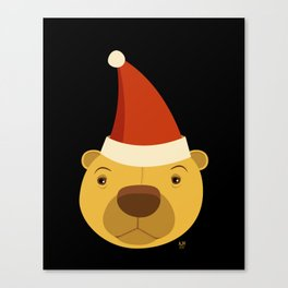 Santa Bear Canvas Print