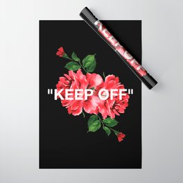 Keep Off White – Roses Wrapping Paper
