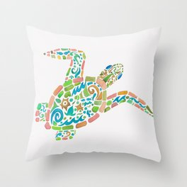 Surf Turtle Throw Pillow