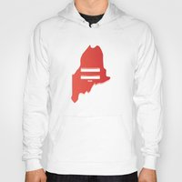 maine Hoodies featuring Maine Love by Tank Top Sunday