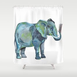 Fact Up Shower Curtain
