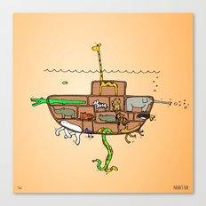 Noah's Ark Submarine, Wall Art, Nursery Decor, Wall Art for Boys Room Canvas Print