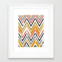 herringbone Framed Art Prints featuring herringbone by Emmy Winstead