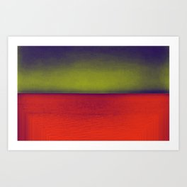 gradient horizon Art Print