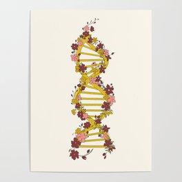 Floral DNA Poster