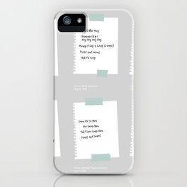Setlists of the Fab Four iPhone Case