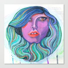 Pretty Oceanic Ombre Face Canvas Print