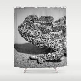 B&W Chameleon  Shower Curtain