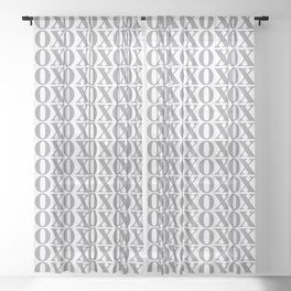Grey XOXO Sheer Curtain