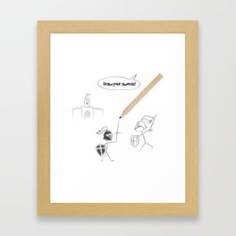 Draw your swords II Framed Art Print