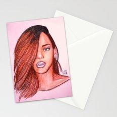 Rihanna Navy Stationery Cards