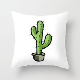 cactos graphic design Throw Pillow