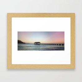 .hanalei. Framed Art Print