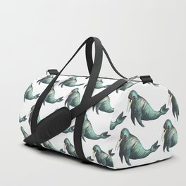 sea lion pattern Duffle Bag