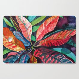 Colorful Tropical Leaves 2 Cutting Board