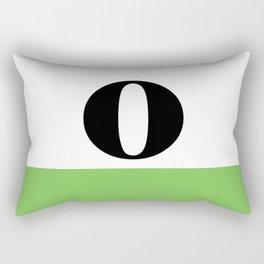 Monogram Letter O (color block) Rectangular Pillow