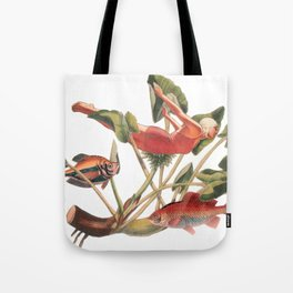 Diver in the Lilies Tote Bag
