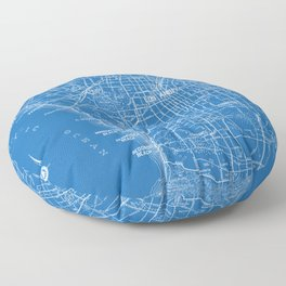 Los Angeles Street Map Floor Pillow