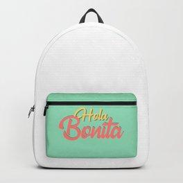 Hola bonita - spanish prints Backpack