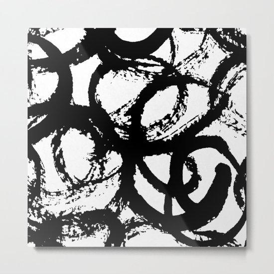 Dance Black and White Metal Print