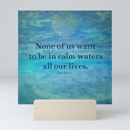 Sea Ocean Jane Austen quote Mini Art Print