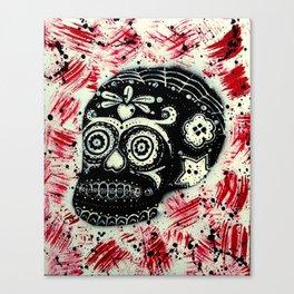 BRW Sugar Skull Canvas Print