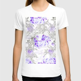 ORCHIDS PURPLE VINES AND CHERRY BLOSSOMS T-shirt