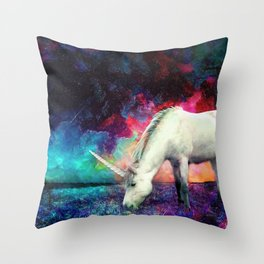 The First Unicorn Throw Pillow