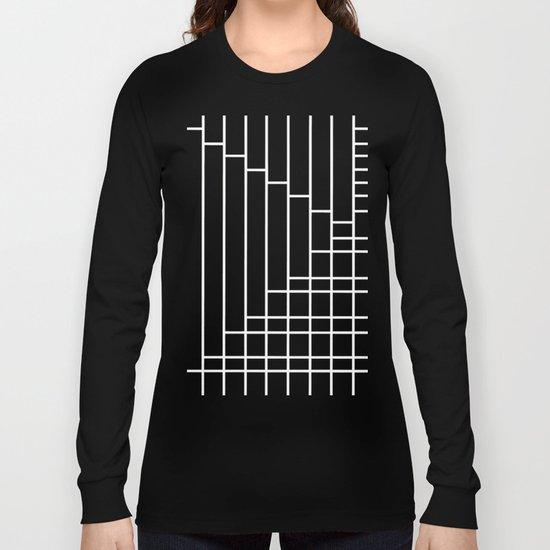Fuzz Outline Grey Long Sleeve T-shirt