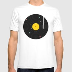 Music, Everywhere White Mens Fitted Tee LARGE