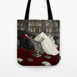 Asleep in the Library Tote Bag