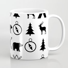 Outdoor Icon Pattern Coffee Mug