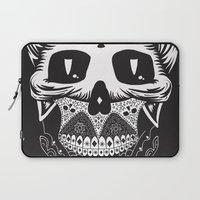 calavera Laptop Sleeves featuring Calavera by Sofia Bolona