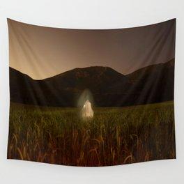 Ghost in field Wall Tapestry