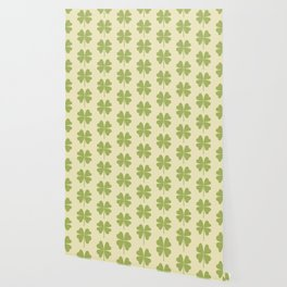Seamless pattern with a leaf of clover Wallpaper