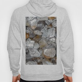 Singing beach sand under a microscope Hoody