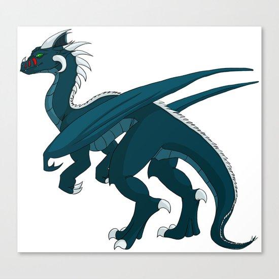 Teal Dragon Canvas Print