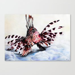Lion fish and his captain. Canvas Print