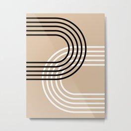 Counterbalance - neutrals Metal Print