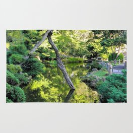 Japanese Tea Garden Lake Rug