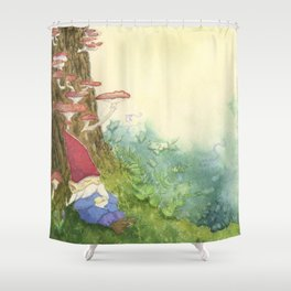 The Sleeping Gnome Shower Curtain
