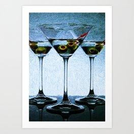 Martini - Shaken not Stirred Art Print