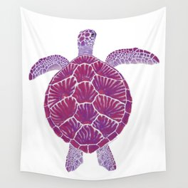 Magenta Sea Turtle Wall Tapestry