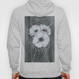 Anemone Flowers illustration gray neutral colors decor Hoody