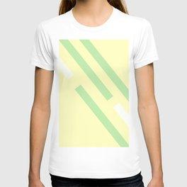 Green yellow white T-shirt