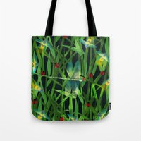 fireflies Tote Bags featuring fireflies by kociara